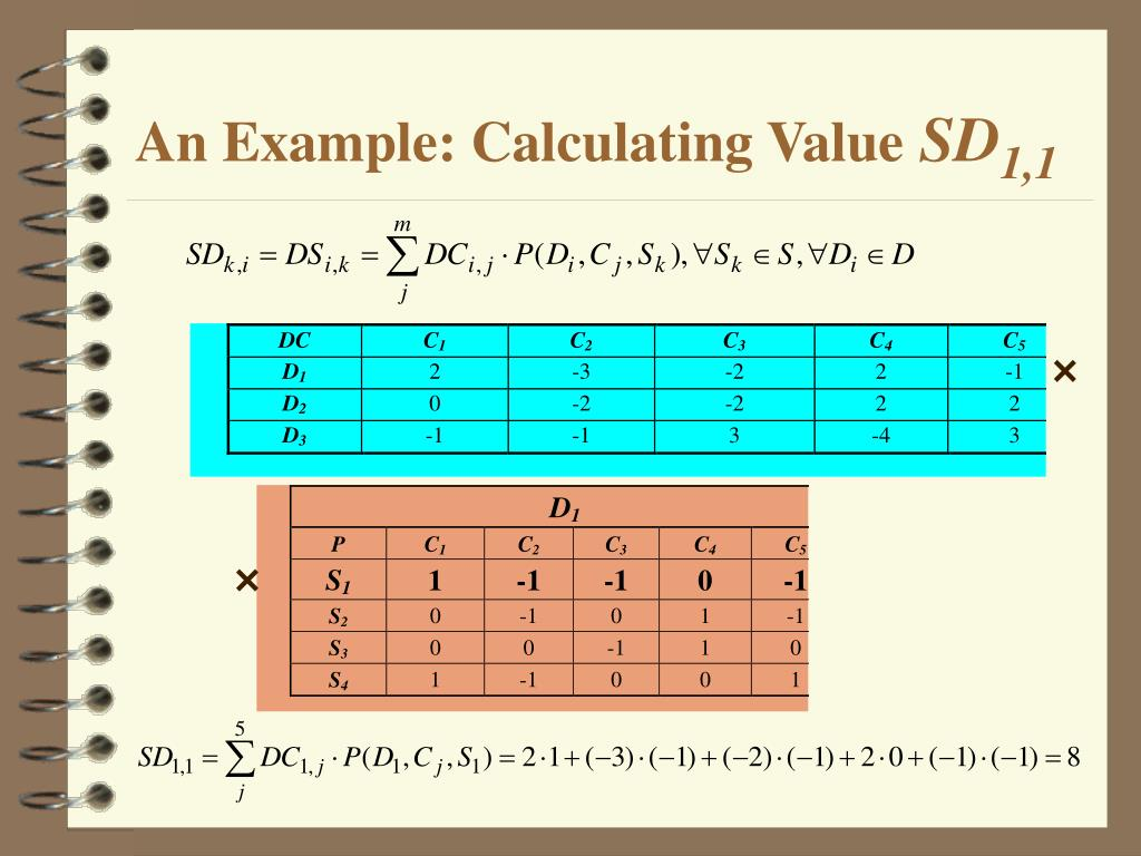 An Example: Calculating Value