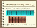 an example calculating value sd 1 1