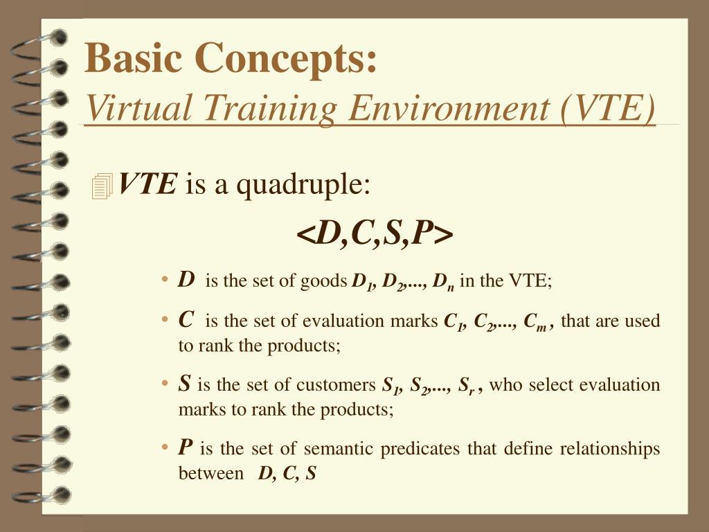 Basic Concepts: