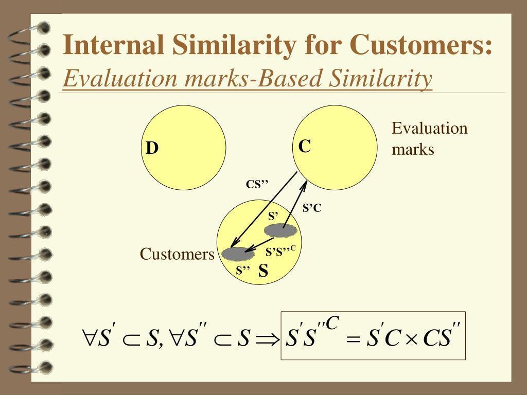 Internal Similarity for Customers: