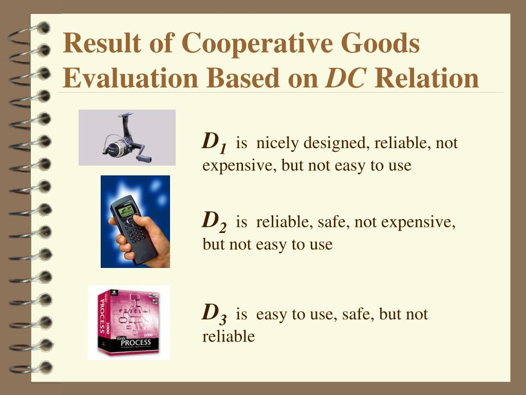 Result of Cooperative Goods Evaluation Based on