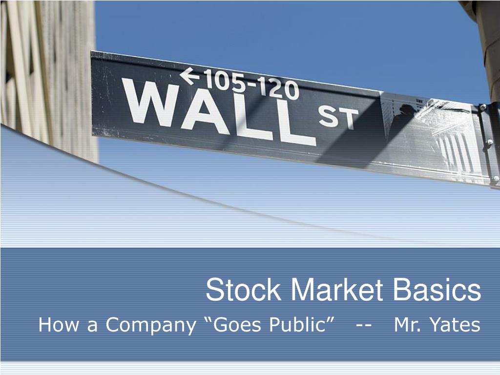 stock market basics l.