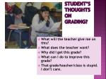 student s thoughts on grading