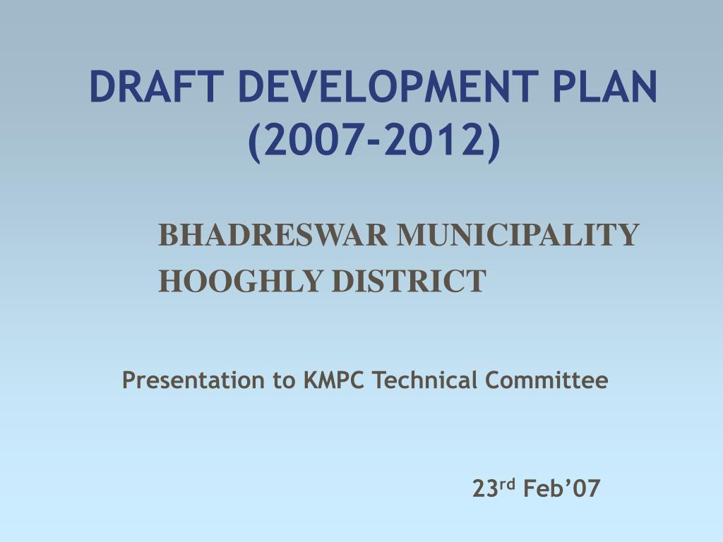 draft development plan 2007 2012 l.