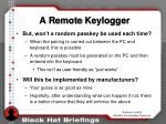a remote keylogger
