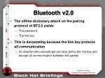 bluetooth v2 010