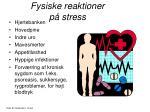 fysiske reaktioner p stress