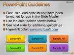 powerpoint guidelines