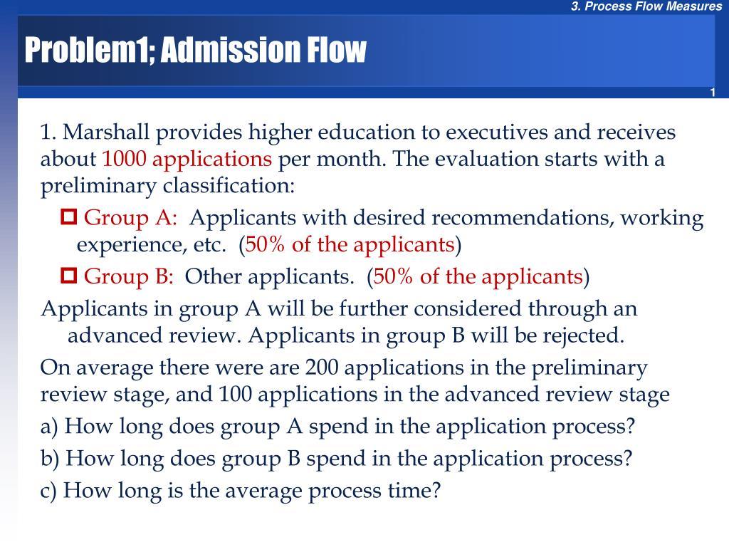 problem1 admission flow l.
