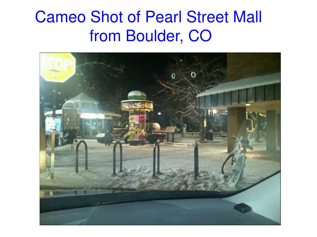 Cameo Shot of Pearl Street Mall