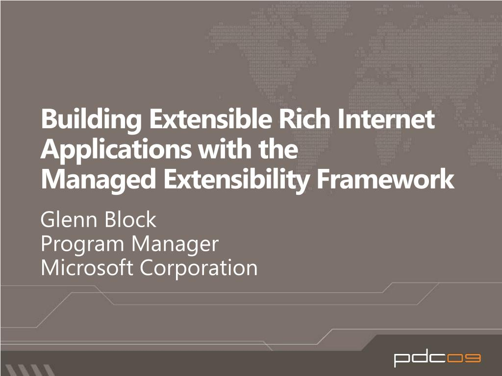 building extensible rich internet applications with the managed extensibility framework l.