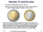 german 1 and 2 coins