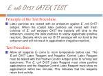 e coli o157 latex test