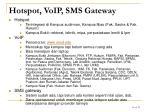 hotspot voip sms gateway