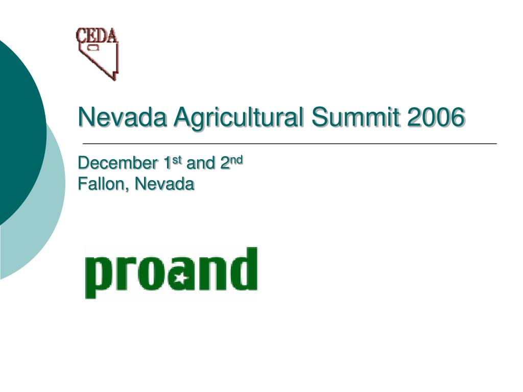 nevada agricultural summit 2006 l.
