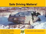 safe driving matters