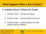 what happens when a car crashes