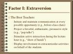 factor i extraversion31