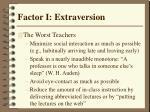 factor i extraversion32