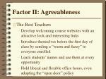 factor ii agreeableness34