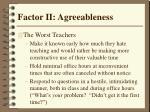 factor ii agreeableness35