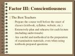 factor iii conscientiousness38