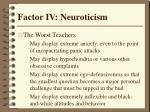 factor iv neuroticism42