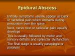 epidural abscess104