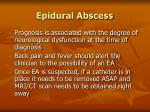 epidural abscess105