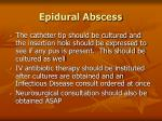 epidural abscess106