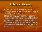 epidural abscess107