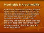 meningitis arachnoiditis