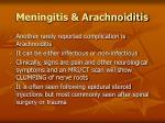 meningitis arachnoiditis101