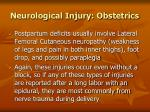 neurological injury obstetrics90