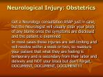 neurological injury obstetrics91
