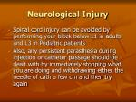 neurological injury84