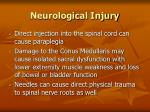 neurological injury85
