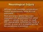 neurological injury86