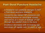 post dural puncture headache75