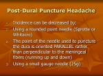 post dural puncture headache76