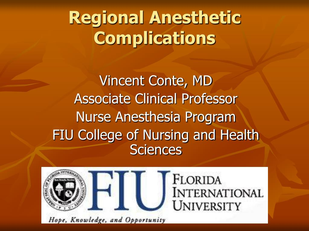 regional anesthetic complications l.