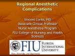 regional anesthetic complications
