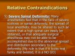 relative contraindications20