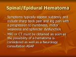 spinal epidural hematoma