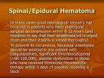 spinal epidural hematoma99