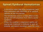 spinal epidural hematomas97