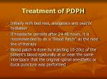 treatment of pdph