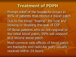 treatment of pdph79