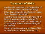treatment of pdph80