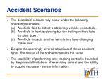 accident scenarios